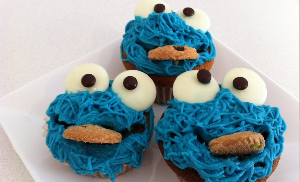 How To Decorate Cookie Monster Cupcakes Tutorial How To Cook That