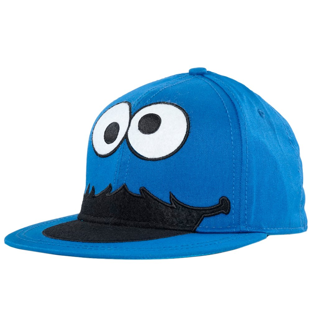 Amazon Com  Sesame Street Cookie Monster Face Fitted Flat