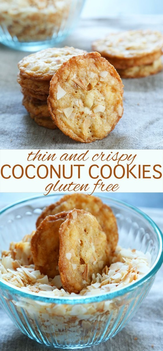 Thin And Crispy Gluten Free Coconut Cookies