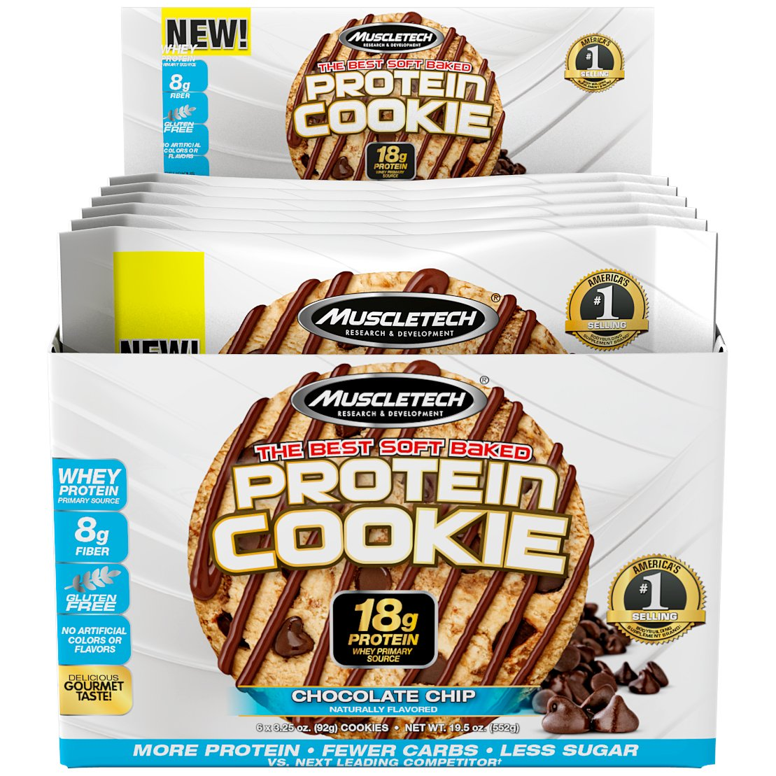 Amazon Com  Muscletech Soft Baked Whey Protein Cookie, Peanut