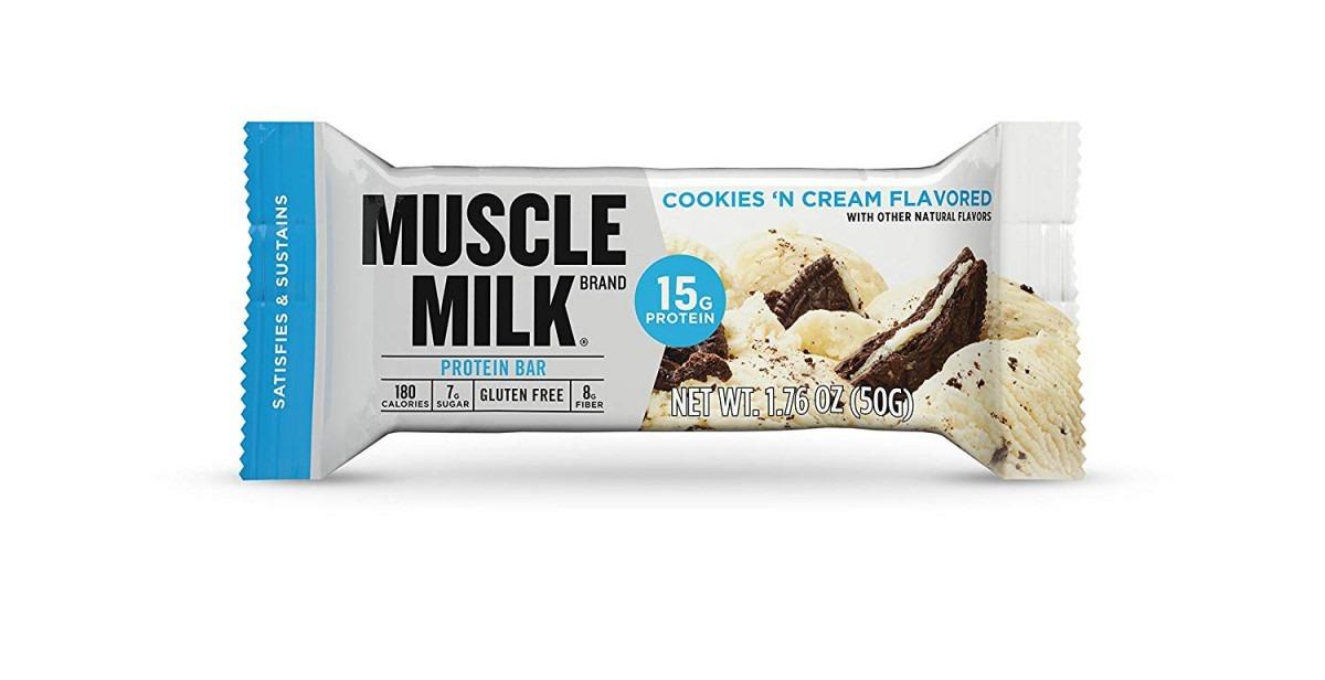 Amazon Com  Muscle Milk Protein Bar, Cookies 'n Cream, 15g Protein