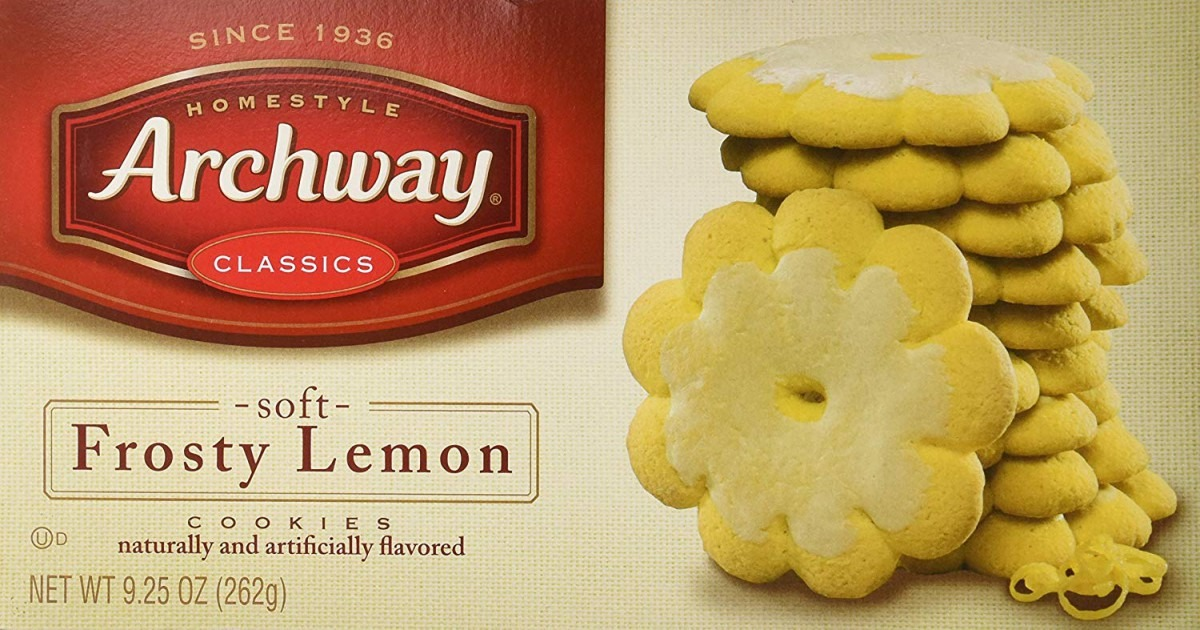 Archway Classic Soft Frosty Lemon Cookies, 9 25 Ounce  Amazon Com