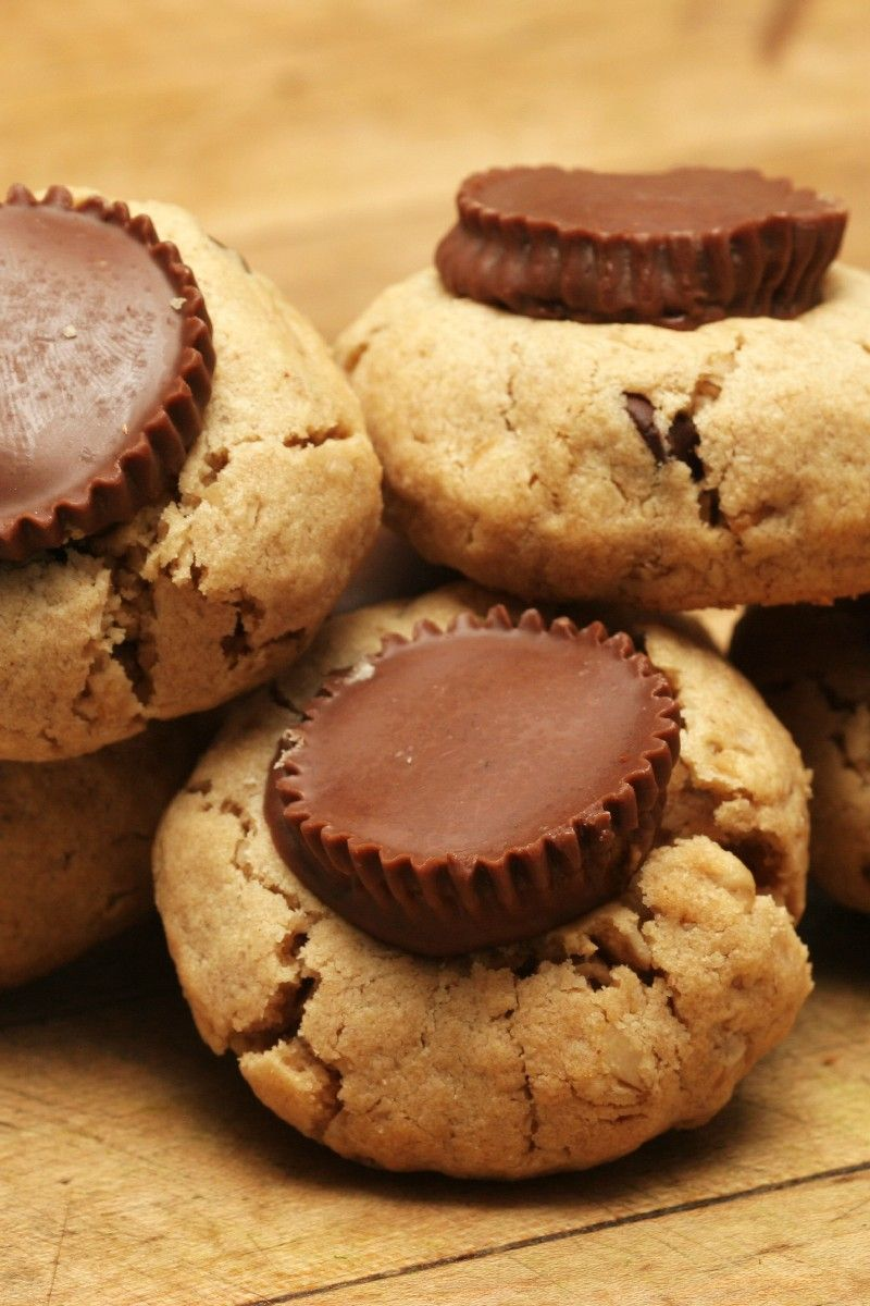 Reese's Peanut Butter Cup Cookies Recipe ~ Only 2 Ingredients
