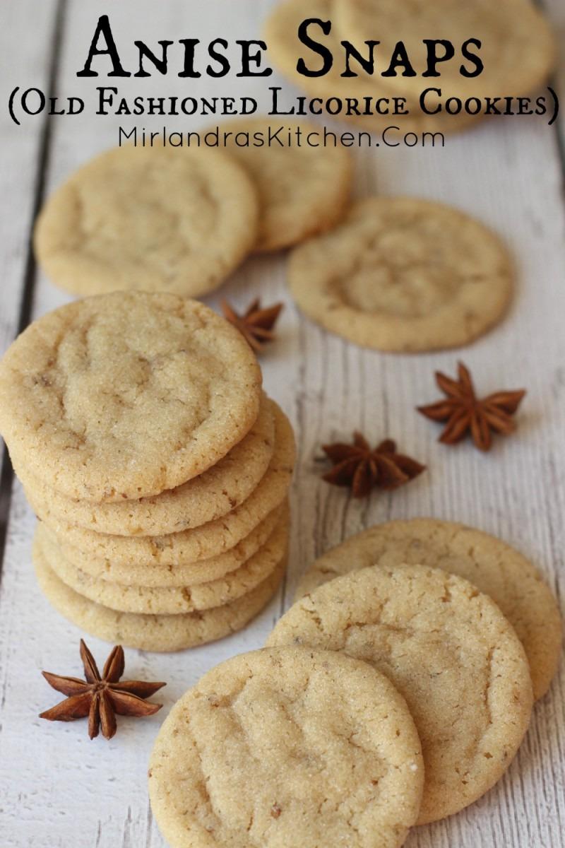 Anise Snaps (licorice Cookies)
