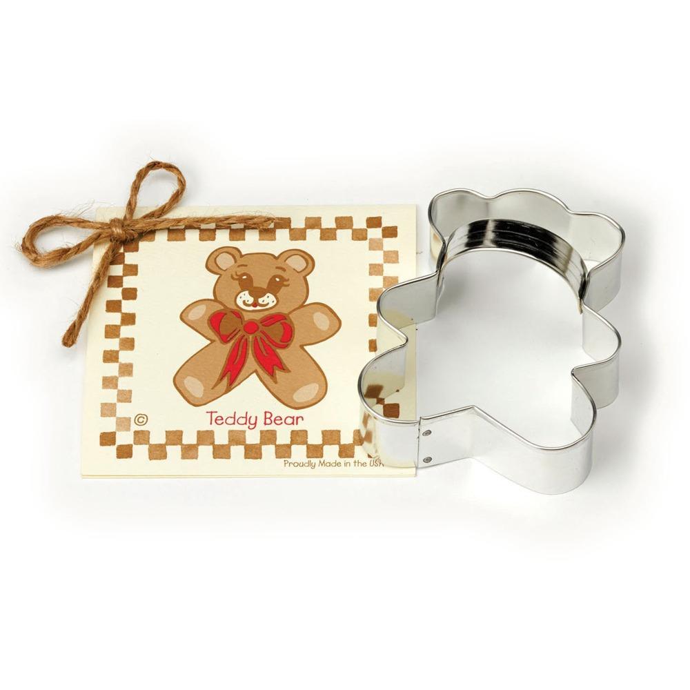 Ann Clark Tinplated Steel Teddy Bear Cookie Cutter, 3 8 Inch