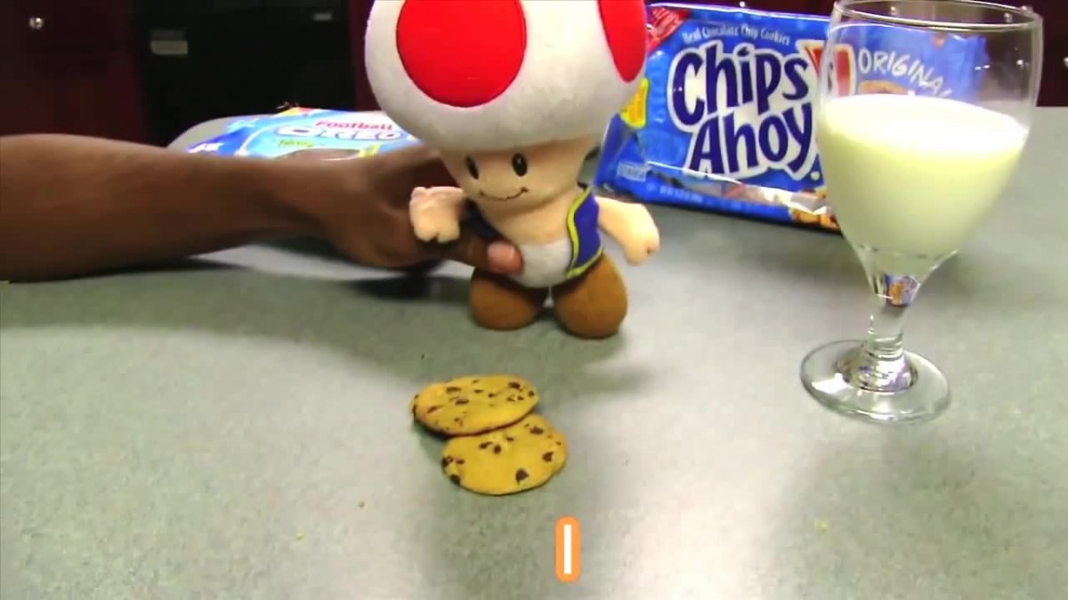 Toad Likes Milk And Cookies