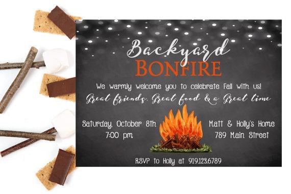 Bonfire Party Invitat Inspirational Bonfire Party Invitations