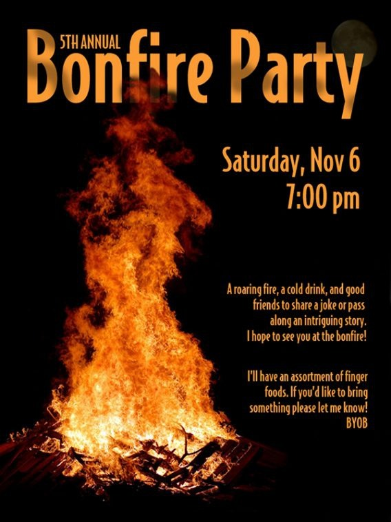 Bonfire Party Invitations Bonfire Party Invitations Suitable In