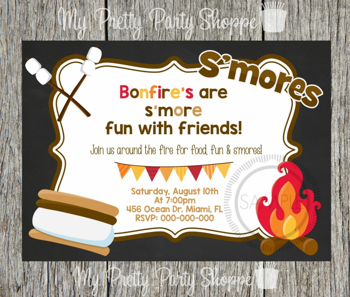 Bonfire Party Invitations Bonfire Party Invitations With The