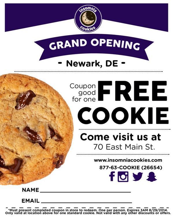 Insomnia Cookies On Twitter   We're Now Open In Newark, De! Visit