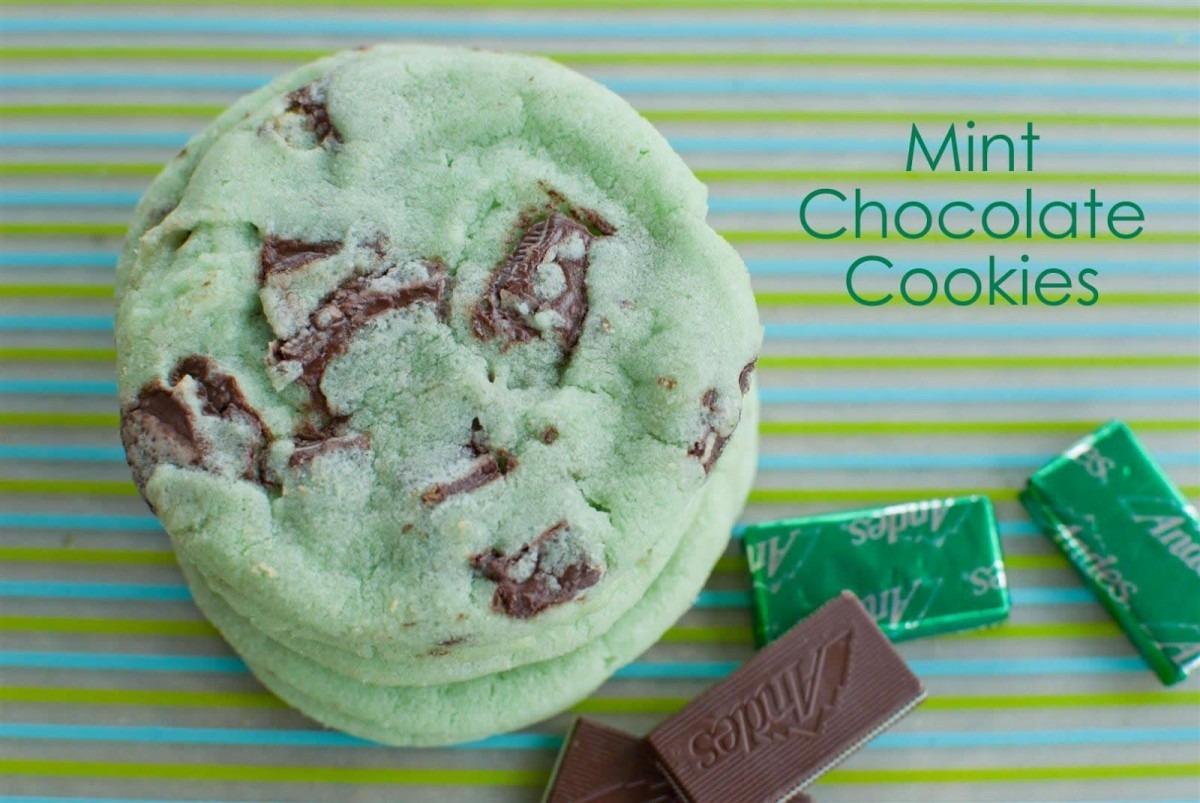 Craftyc0rn3r  Mint Chocolate Cookies