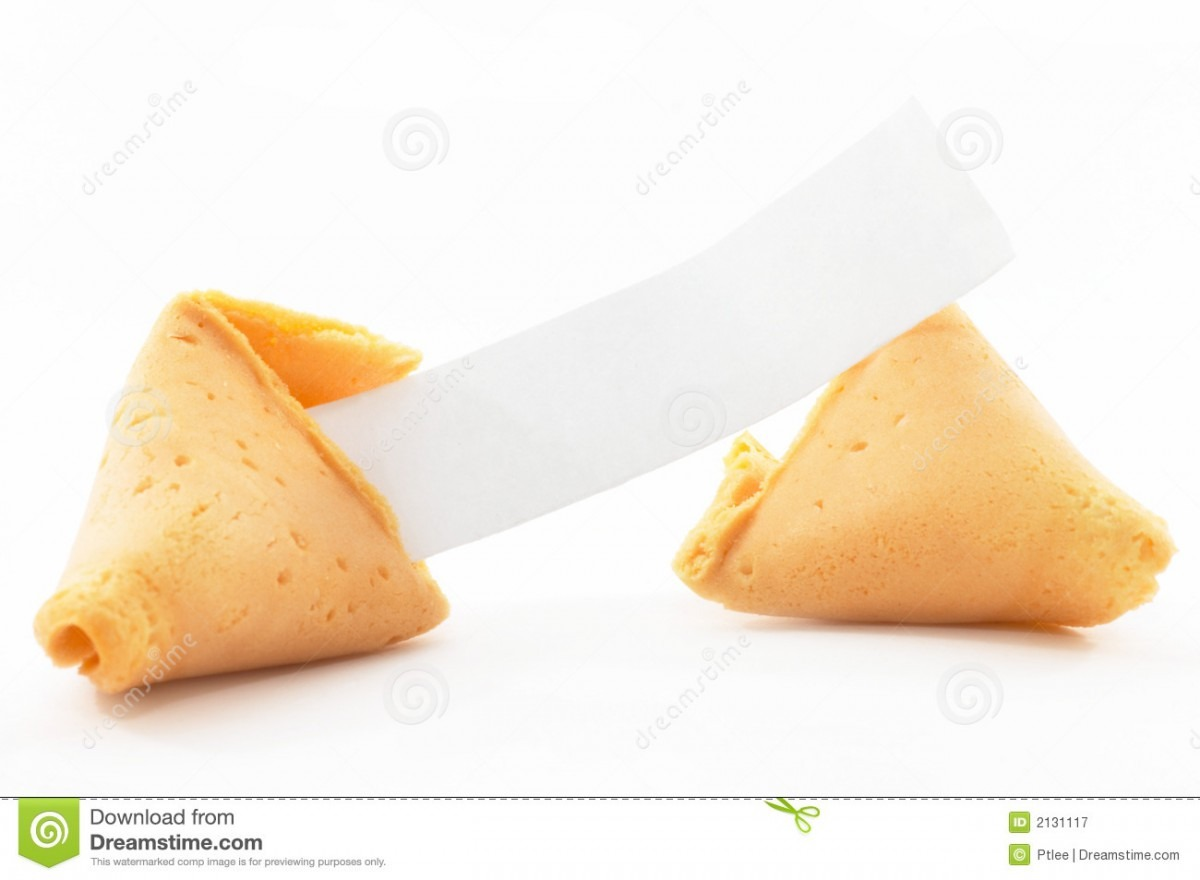 Chinese Fortune Cookie Open Wi Stock Image