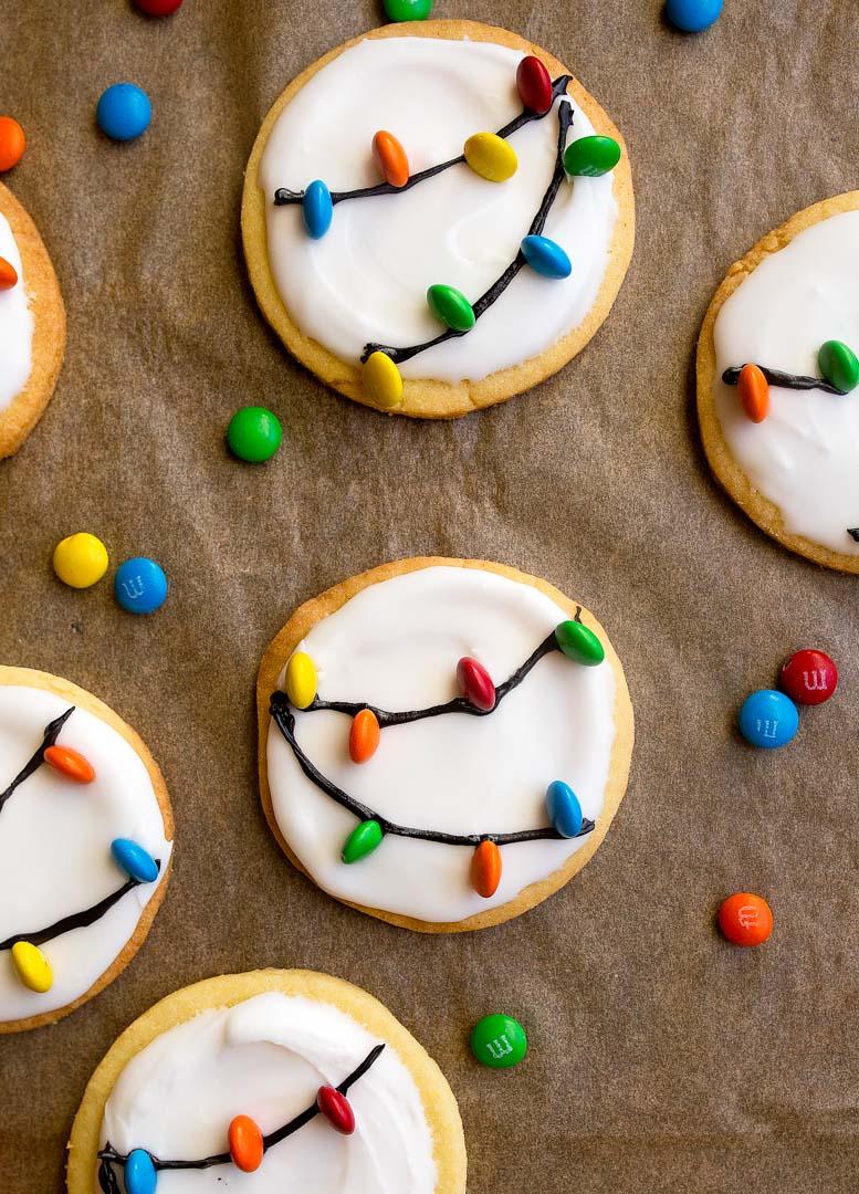 Christmas Lights Cookies With Royal Icing