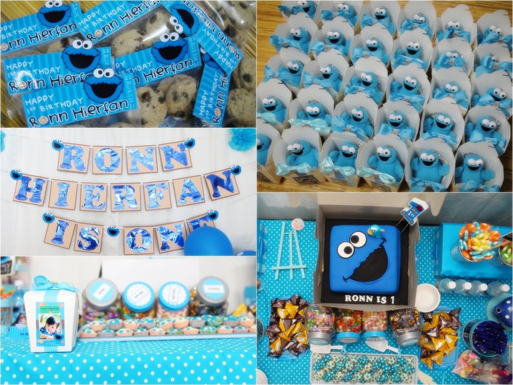 Elmo And Cookie Monster Birthday Party — Designdiary   Cookie