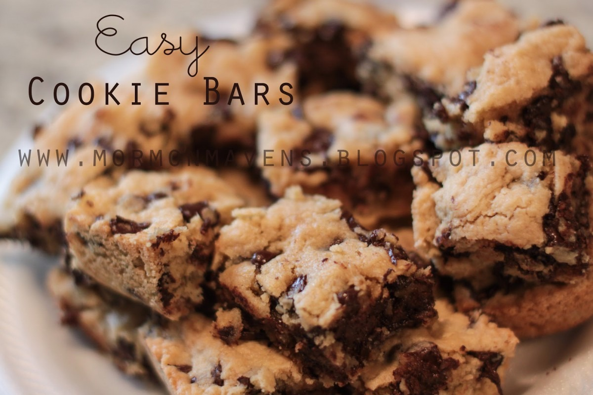 Mormon Mavens In The Kitchen  Easy Cookie Bars
