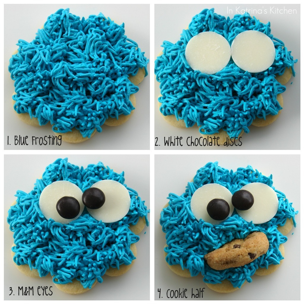 Cookie Monster Cookies Recipe And Tutorial