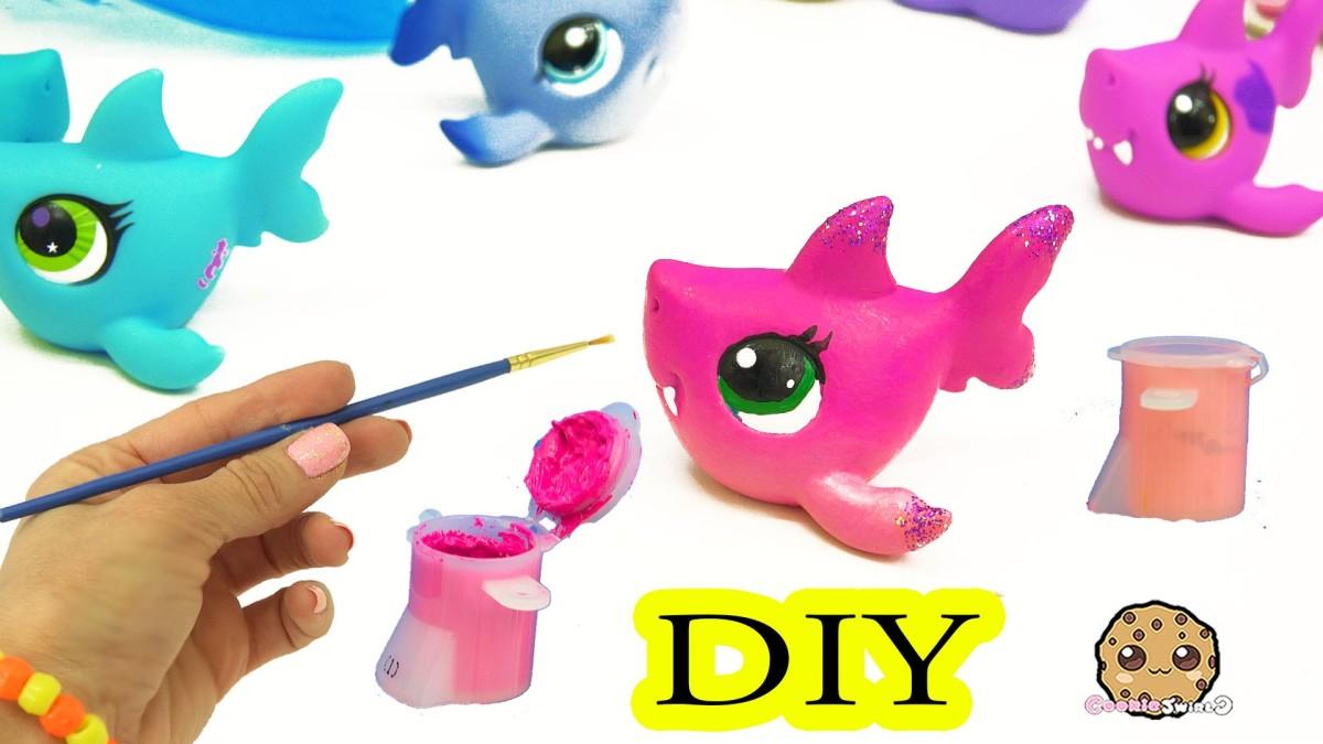 Custom Painting Diy Littlest Pet Shop Shark – Lps Do It Yourself