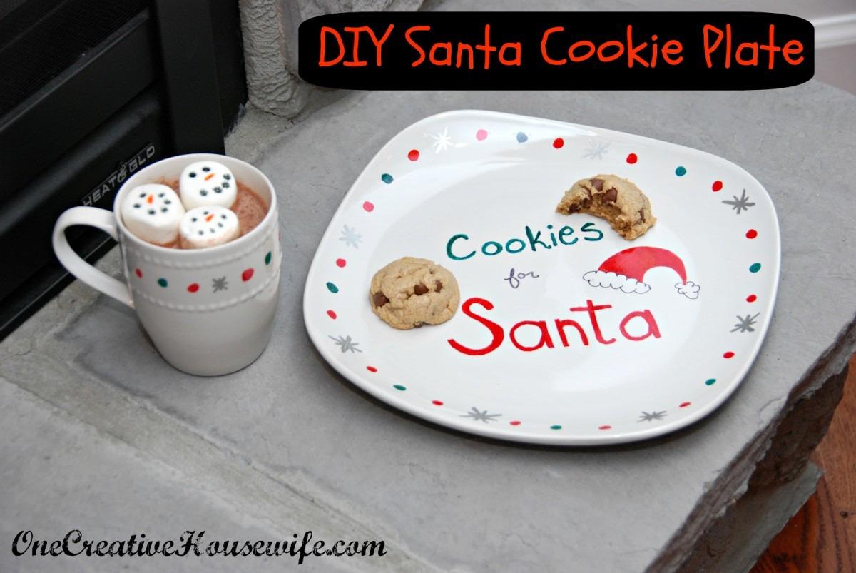 One Creative Housewife  Diy Santa Cookie Plate