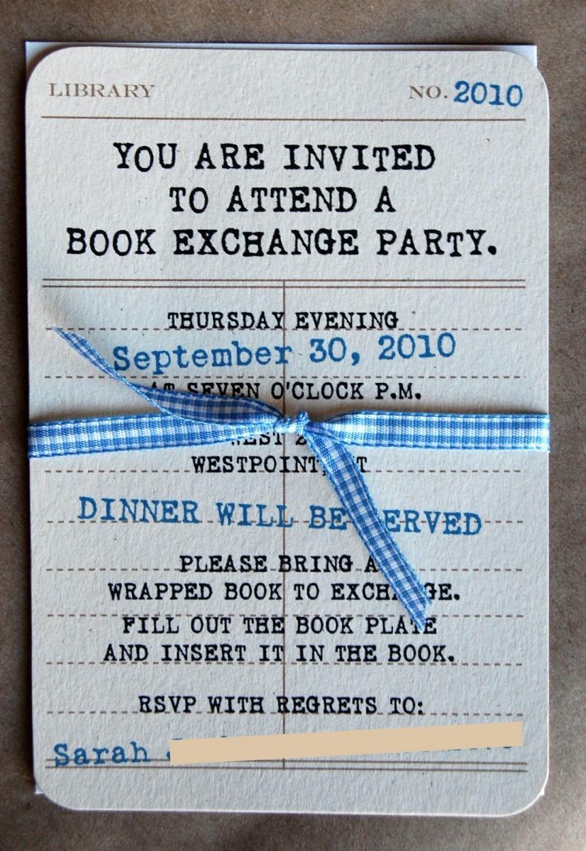 Reid Girls Handmade  Book Exchange Party + Freebie