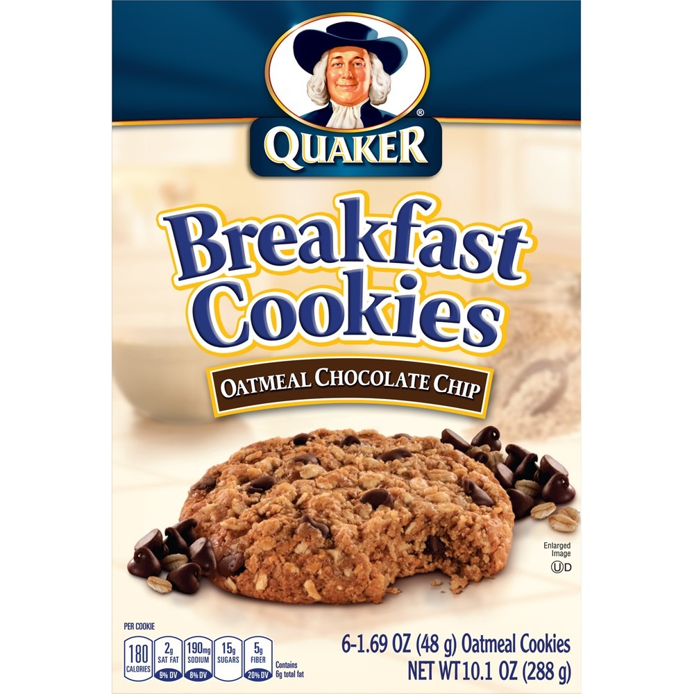 Quaker Breakfast Cookies Oatmeal Chocolate Chip, 6 Ct