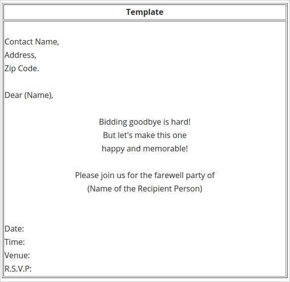 Farewell Pa Superb Going Away Party Invitation Template