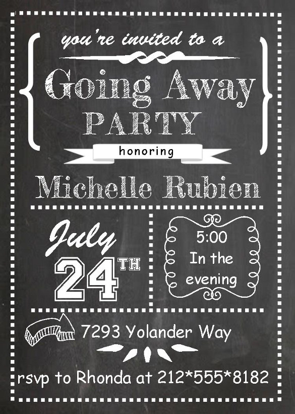 Farewell Party Flyer Template Free Going Away Party Flyer Template