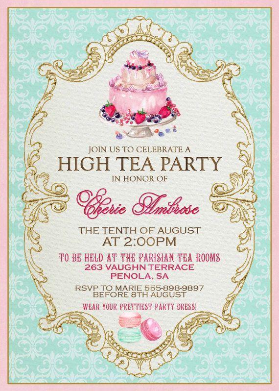 Aefdaadeaaae Simple Invitations To Tea Party Samples