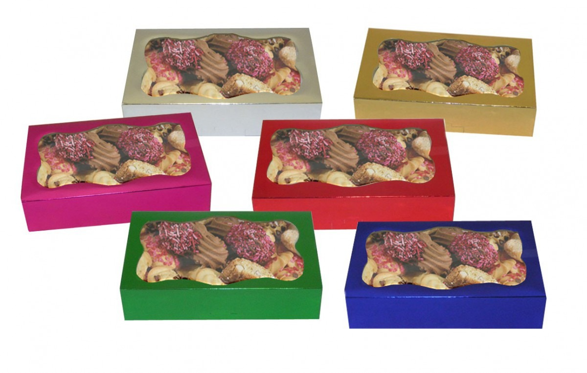 Foil Cookie Boxes With Window