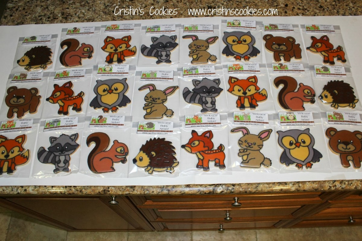Cristin's Cookies  Forest Animal Cookies For Baby Aidan & New