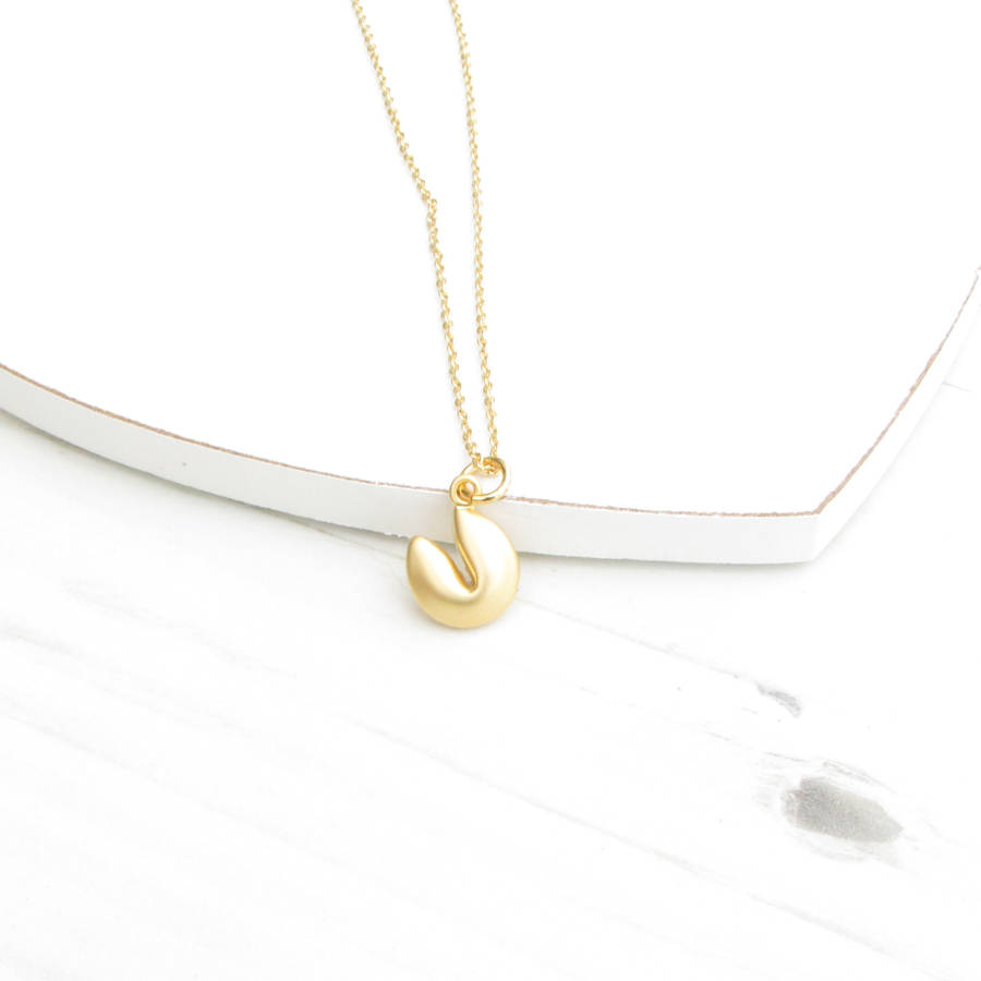 Custom Fortune Cookie Necklace Jewelry Necklaces Christina Kober