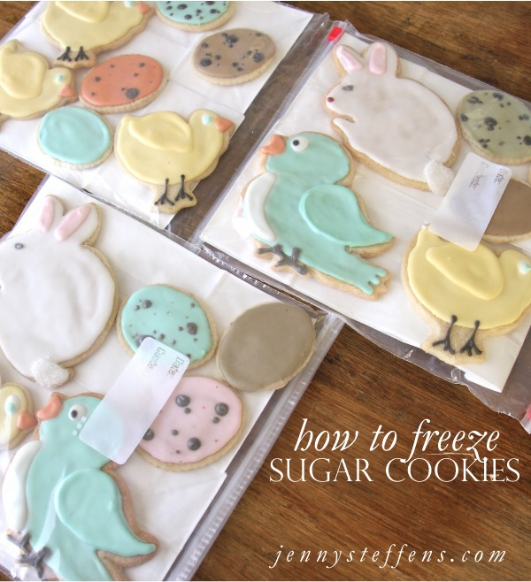 Freezing Sugar Cookies