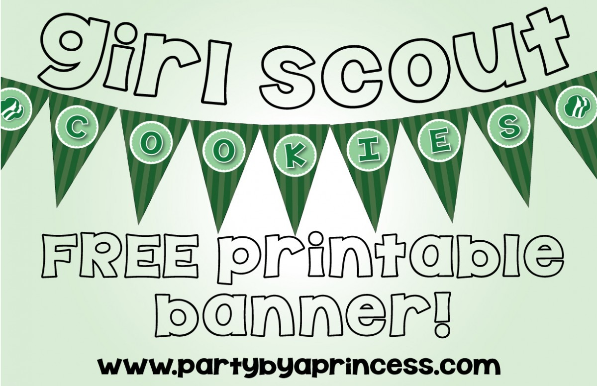 Free Girl Scout Cookie Banner Printable – Party By A Princess
