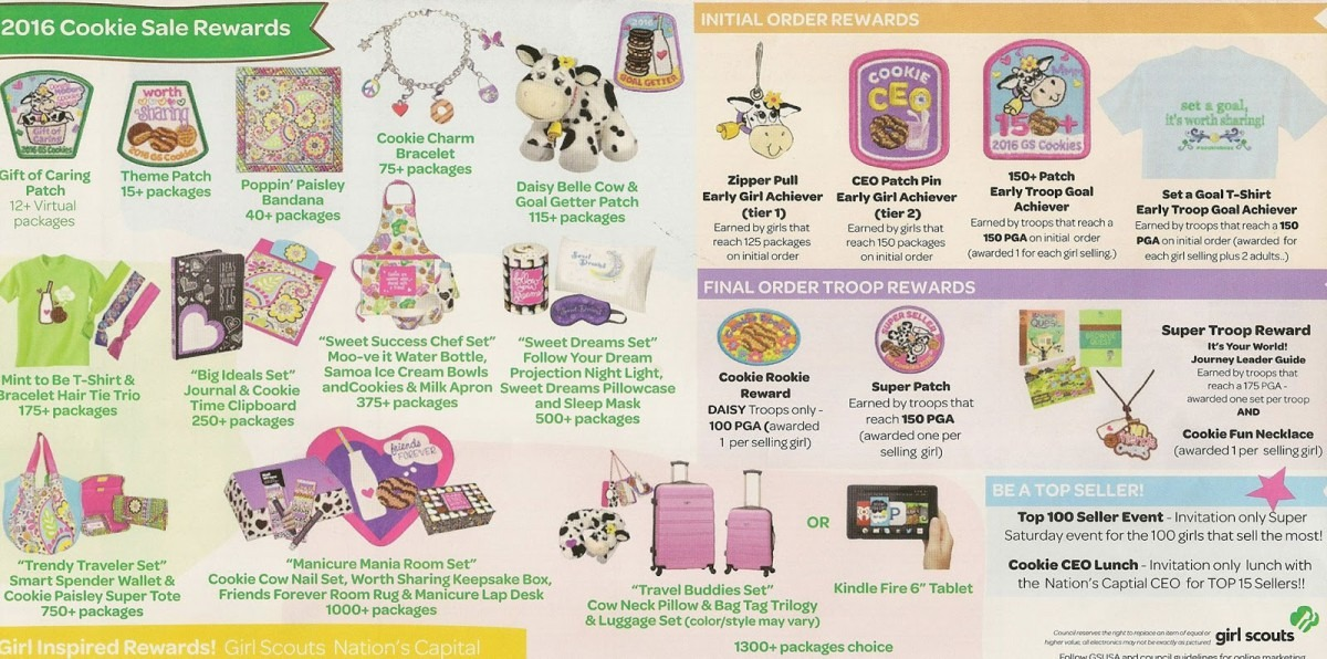 Via Bella  Great Cookie Sale Prizes For Girl Scouts In 2016