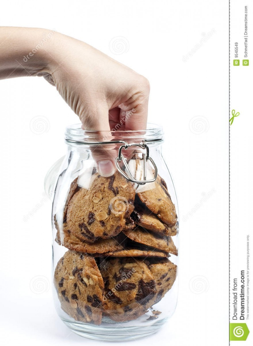 Hand In The Cookie Jar Stock Image  Image Of Snack, Treat