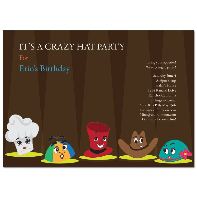 Hat Shaped Invitations 6919f51d07bb8de9e7e81f60e4ad97e5 Hat Party