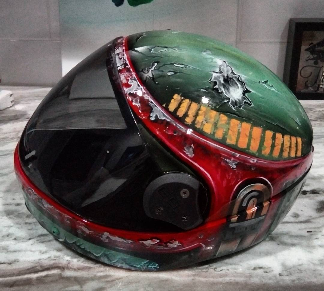Boba Fett Cookie G3 Skydiving Helmet!   Bobafett