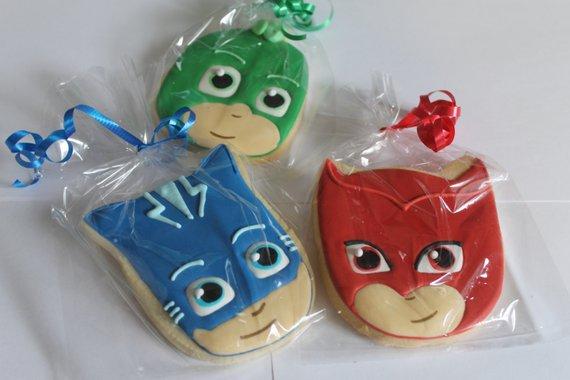 Pj Masks Cookies With Villans 12 Cookies