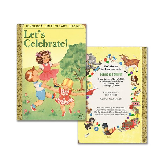Invitation For Book Themed Party   Printable Invitation