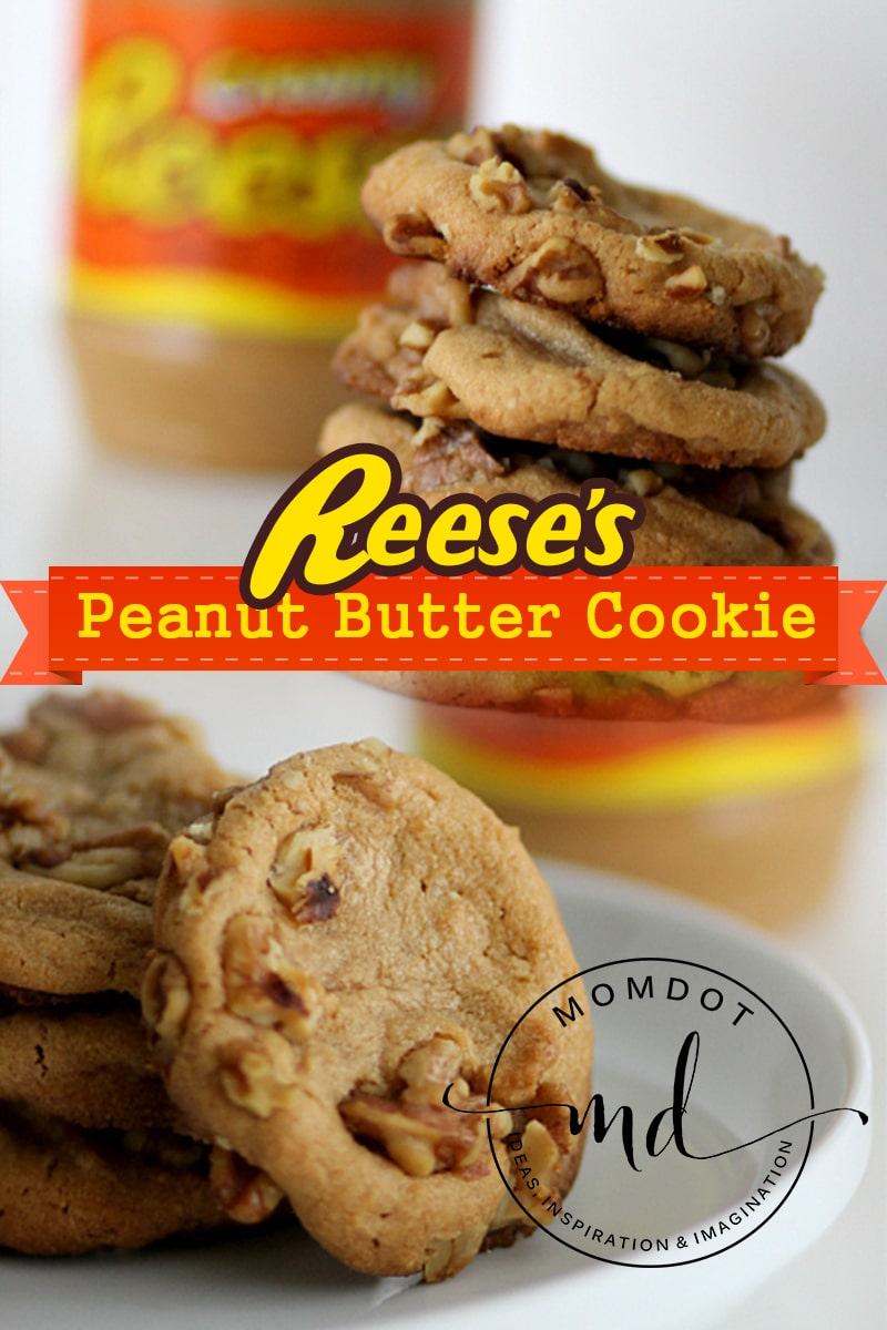 Peanut Butter Cookies Made With Reese's No Flour Cookie Recipe