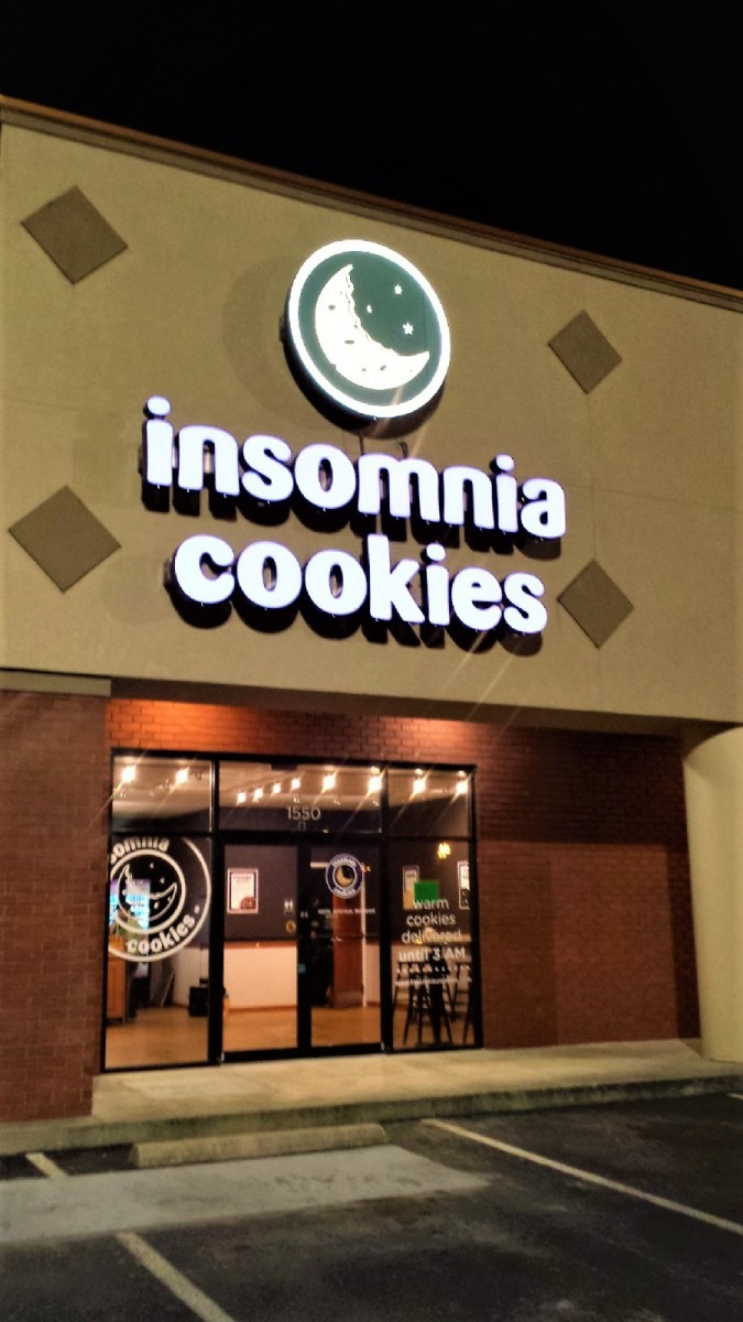 Brand New Channel Letter Sign For Insomnia Cookies Of Statesboro