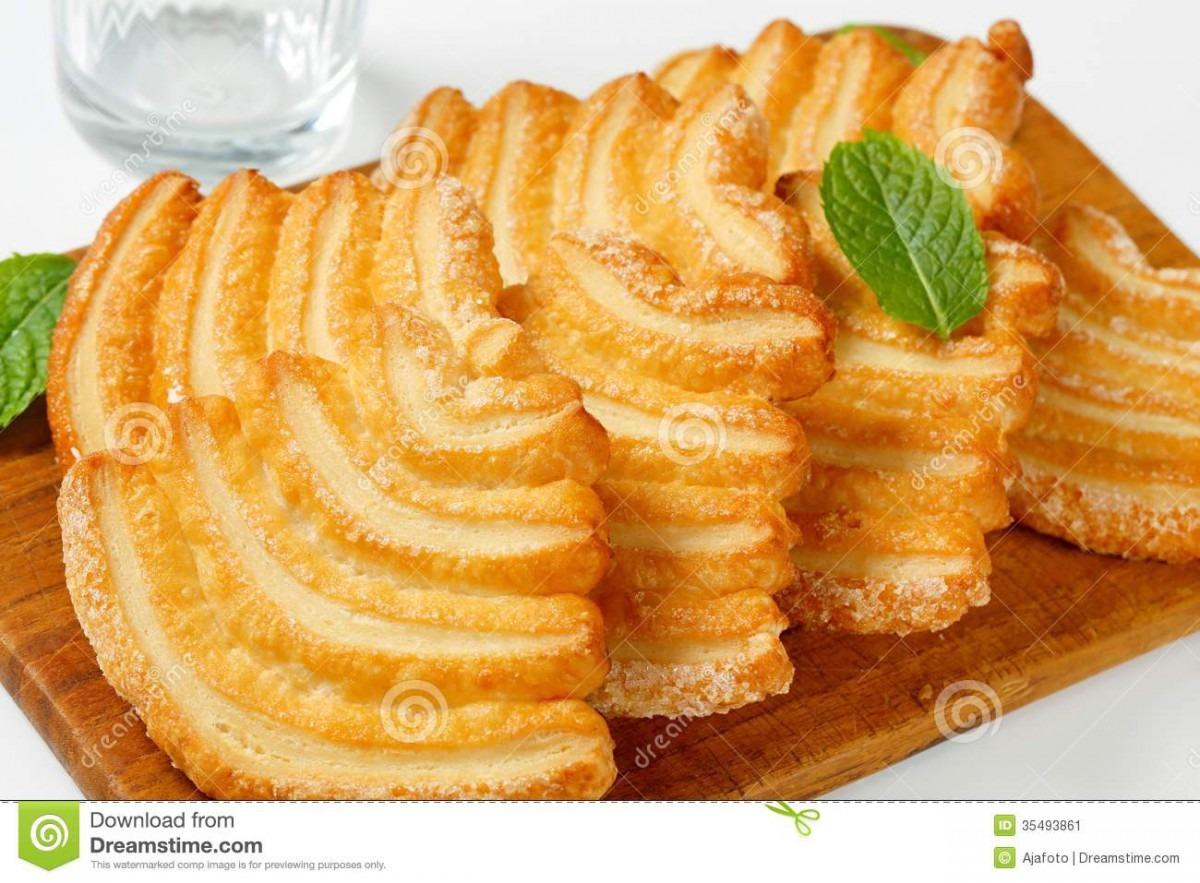 Italian Puff Pastry Cookies Stock Image