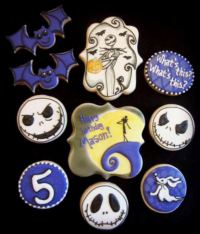 Jack Skellington Birthday Cookies