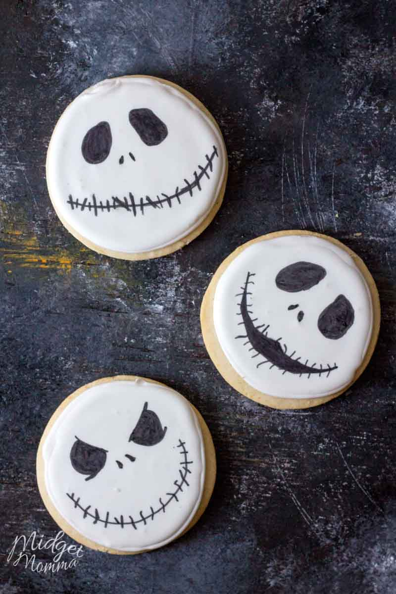 Jack Skellington Homemade Halloween Sugar Cookies