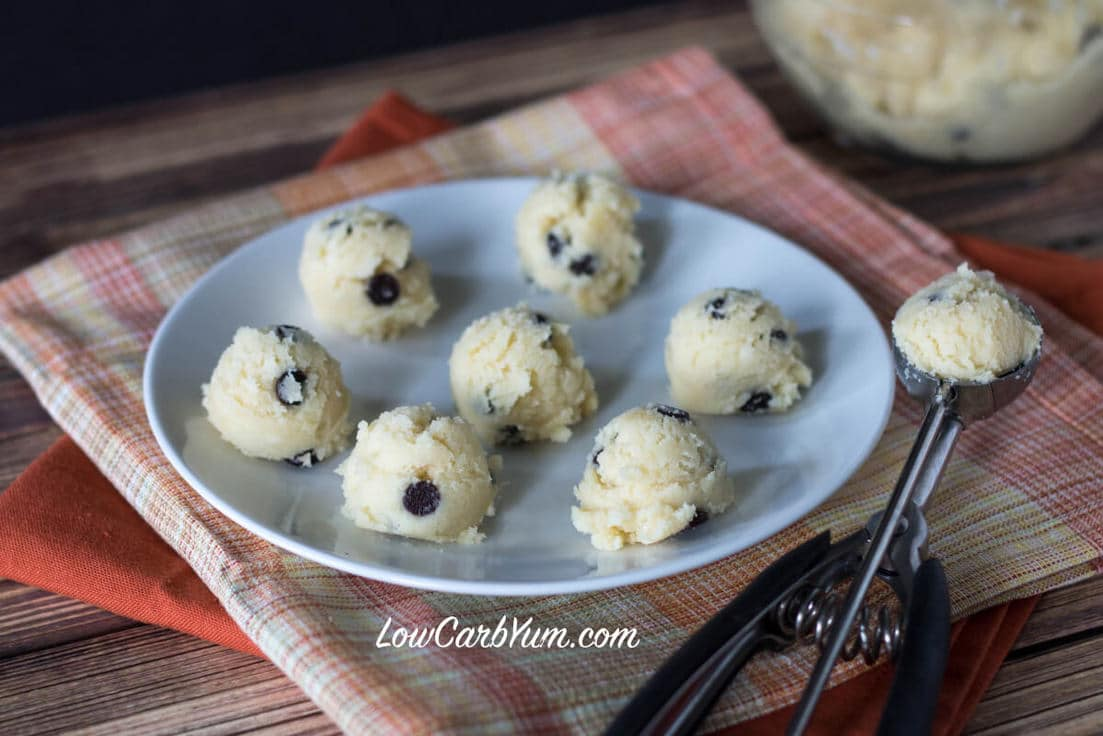 Coconut Flour Chocolate Chip Cookie Dough