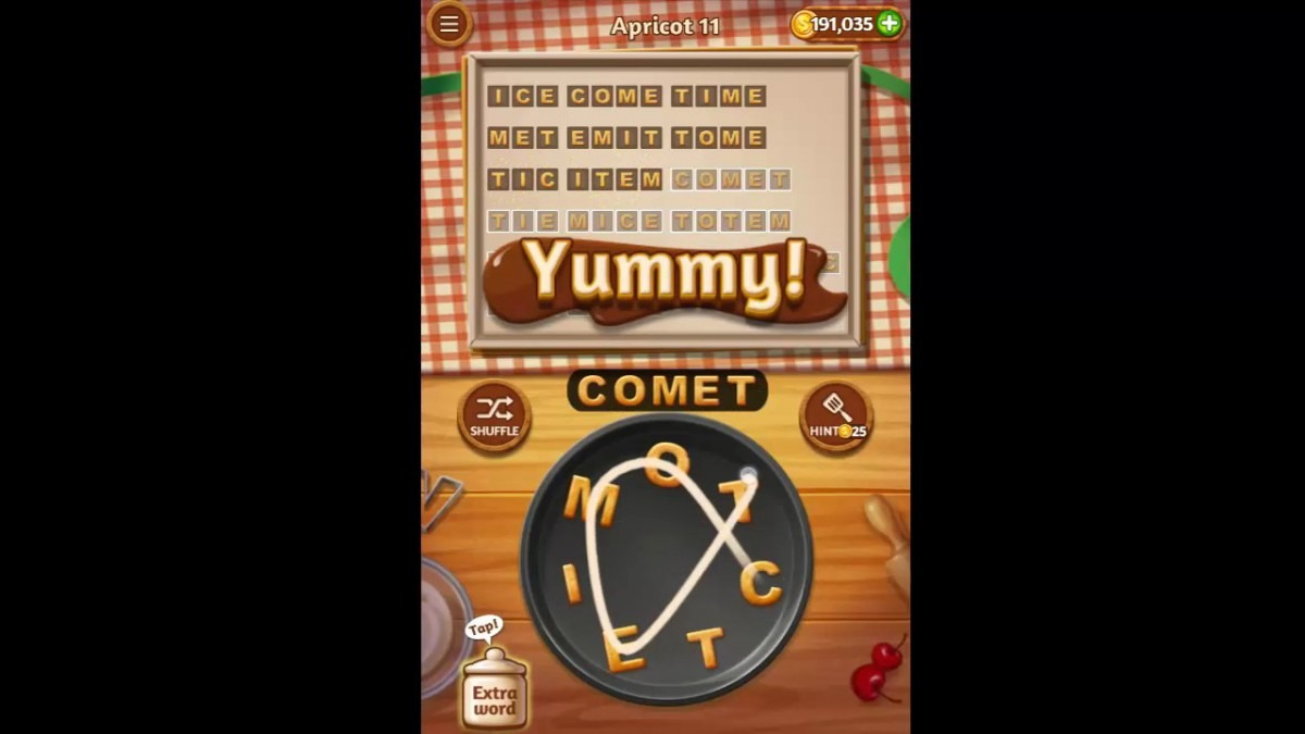 Word Cookies Apricot Pack Level 11 Answers