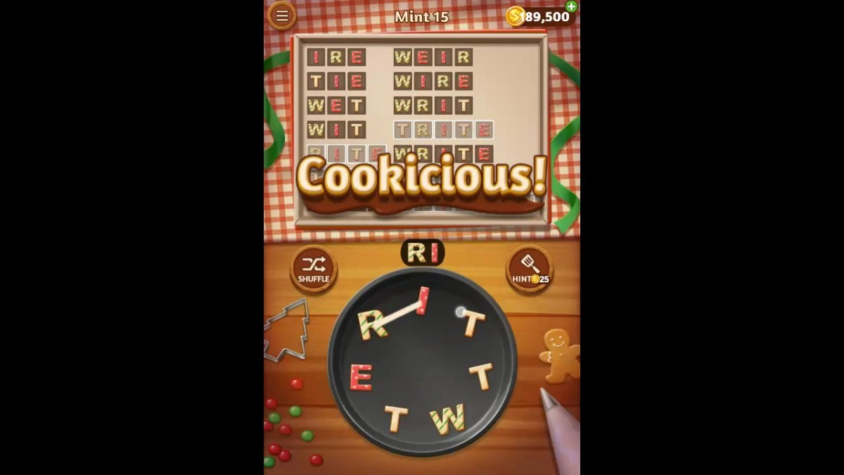 Word Cookies Mint Pack Level 15 Answers