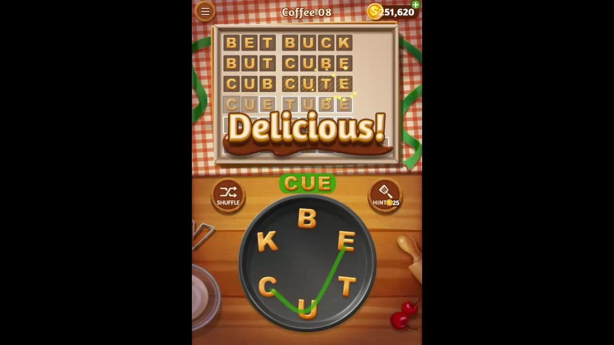 Word Cookies Coffee Pack Level 8 Answers