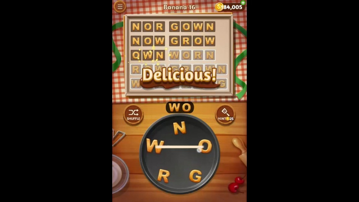 Word Cookies Banana Pack Level 16 Answers