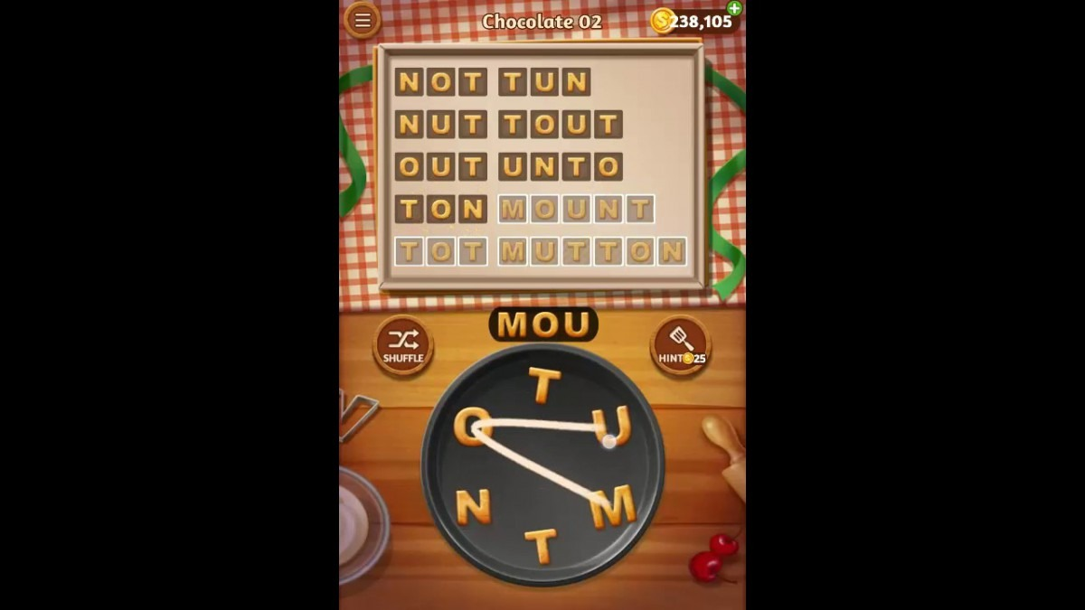 Word Cookies Chocolate Pack Level 2 Answers