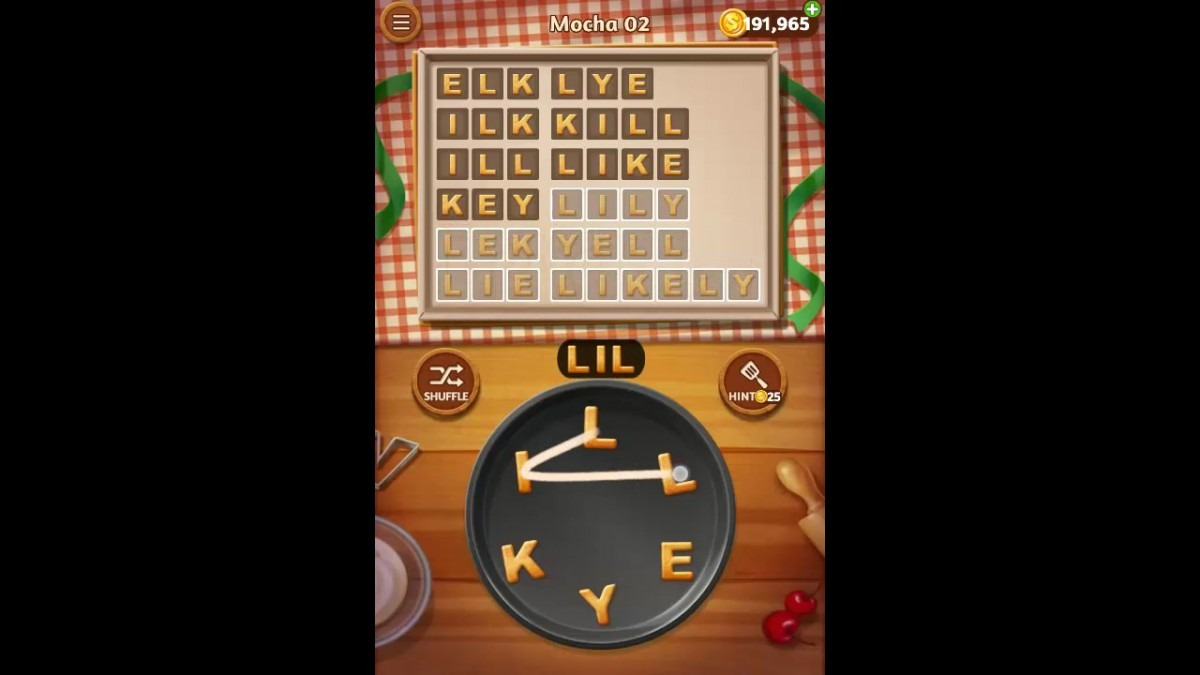 Word Cookies Mocha Pack Level 2 Answers